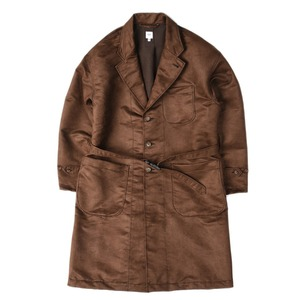 "RANDT Polyester Faux Suede Studio Coat ""Brown"""