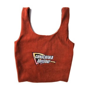"CONICHIWA bonjour Fleece Bag ""Red"""