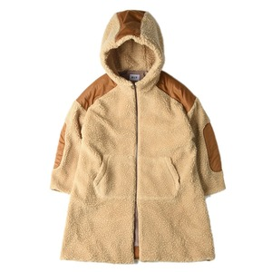"KIIT Wool Boa Zip Up Hoodie Coat ""Beige"""