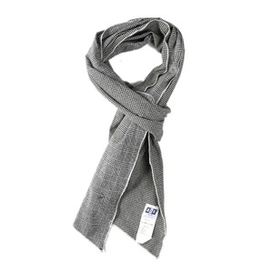 "AIE Hv. Weight Glen plaid DLF Scarf ""Grey"""