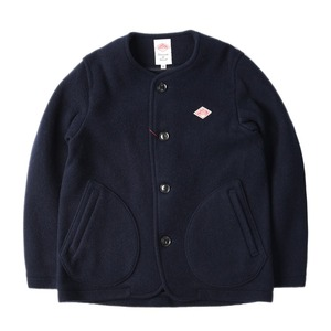"DANTON #JD-8903 Women's Wool Mosser No Collar Jacket ""Navy"""