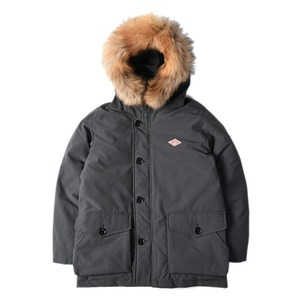 "DANTON #JD-8532 Rakoon Hood T/C Tusser Down Jacket ""Coal Grey"""