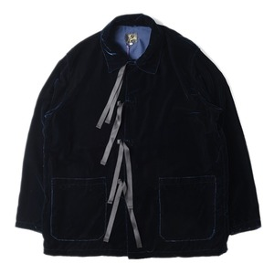 "NEEDLES Strings Jacket R/Cu Velvet ""Navy"""