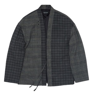 "QLAD MUSEUM Mixed Glencheck Haori Jacket ""Grey Check"""