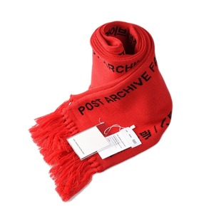 "POST ARCHIVE FACTION Logo Scarf ""Red"""