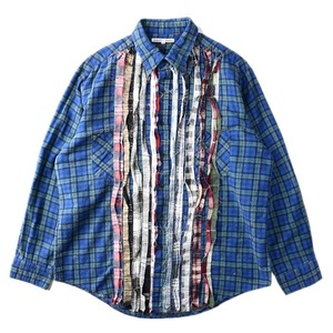 "NEEDLES Rebuild by Needles Flannel Shirt L size ""F"""