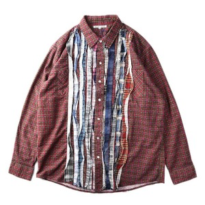 "NEEDLES Rebuild by Needles Flannel Shirt L size ""A"""