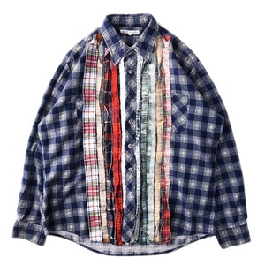 "NEEDLES Rebuild by Needles Flannel Shirt L size ""E"""