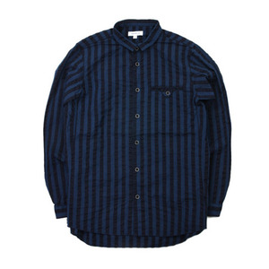 "Ordinary Fits Worker's Shirts ""Navy Stripe"""