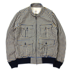 East Logue Yellow & Blue Check Jacket