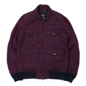 East Logue Red & Navy Stripe Jacket