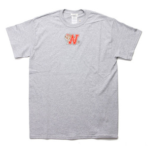 "Infielder Designs INF-ON-03 Animal T-Shirts Grey ""W"""