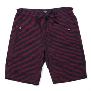 East Logue Red & Navy Stripe Shorts