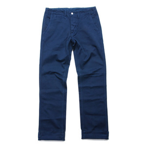 "BURGUS PLUS 401-64 Button Fly Modern Chino Trousers ""Indigo"""