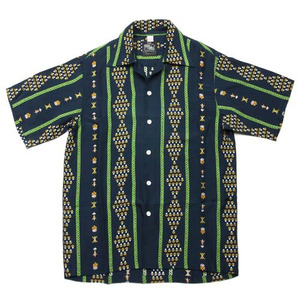 "Kona Bay Hawaii Geometric Hawaiian Shirts ""Navy"""