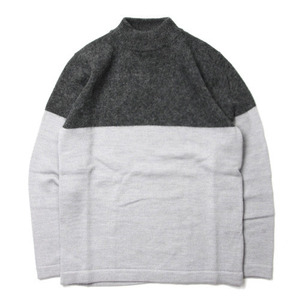 "Still by Hand 2Tone Pullover Knit ""Grey"""