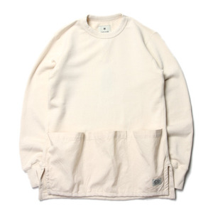 "Snow Peak Camping Sweat Pullover ""Ivory"""