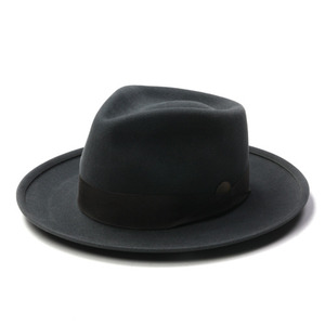 "Brixton - Limited Collection NASHVILLE Ltd. Fedora ""Dark Grey"""