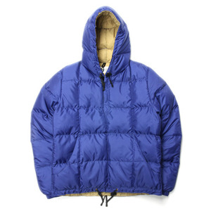 "Crescent Down Works Pullover Anorak Sweater ""Blue"""