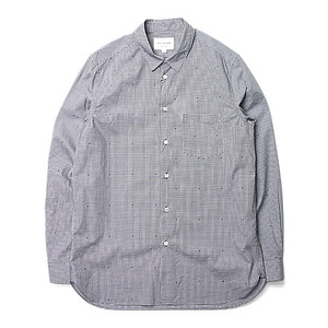 "Still by Hand Regular Collar Shirt ""Grey"""