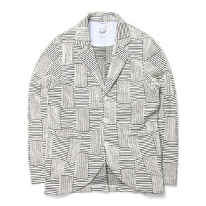"RIDING HIGH Jacquard Patchwork Jacket ""White"""
