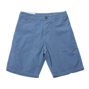 "BLEU DE PANAME Short Fatigue Seersucker Pants ""Bleu Charrette"""
