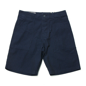"BLEU DE PANAME Short Fatigue Seersucker Pants ""Bleu Paname"""